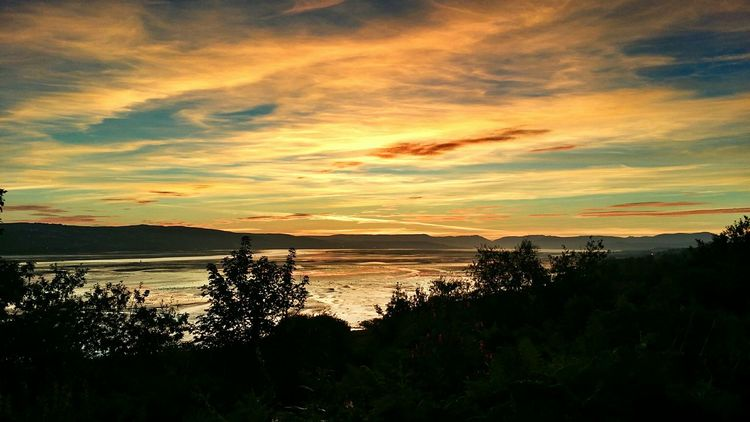 Sunset Silhouettes Sunrise_sunsets_aroundworld Sunset Sunset_collection Dumbarton Shore Scenic View Scotland Scottish River Clyde Riverside