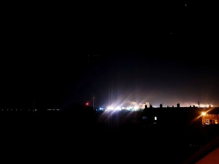 Night Illuminated City Outdoors Eyeemvision Hull City Of Culture 2017 Taking Photos Adventure Club Check This Out Showingoff Enjoying Life No People Clear Sky BP Chemical Plant Sky Stars