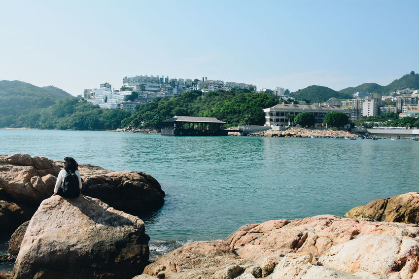 Water Rock Built Structure Rock - Object Architecture Sky Solid Building Exterior Nature Sea Mountain Day Beauty In Nature Scenics - Nature Land City No People Tranquility Outdoors Hong Kong Hong Kong Bay HONG KONG BEACH