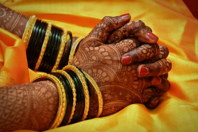 Praying hands🙏 Henna Tattoo Mehendi EyeEmNewHere Faith Prayer Pray Yellow Yellow Saree Praying Hands EyeEm Selects Human Hand Bride Ceremony Bangle Wedding Celebration Wedding Ceremony Tradition