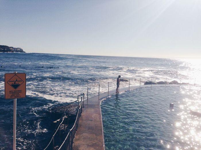 Bronte pool Swinming beach Water Sunshine Sydney