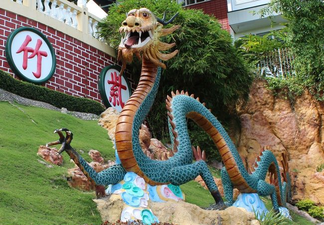 Taoist TaoistTemple Animal Representation Animal Themes Architecture Building Exterior Chinese Dragon Day Dragon Green Color Mammal Nature No People One Animal Outdoors Sculpture Statue