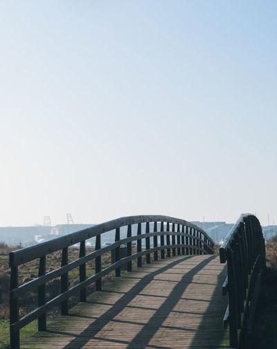 Clear Sky Bridge - Man Made Structure Horizon Railing Sky Footbridge