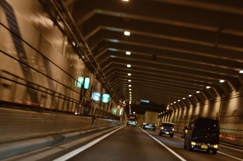 Night Road View From The Window Night Driving  From My Point Of View Night Lights Night Photography Perspective Vanishing Point Road Lines And Patterns Wall Reflections Tokyo Highway Tokyo,Japan 首都高速 湾岸線 December2016