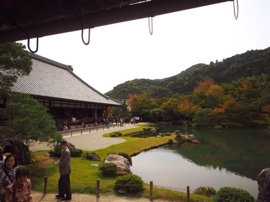 Kyoto Japan Arashiyama Tenryuu-ji Temple Tenryuu-ji Temple Pond Autumn Colors Autumn Olympus PEN-F 京都 日本 嵐山 天龍寺 寺 紅葉 池