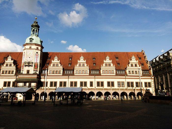 Leipzig Germany Markt Marktplatz Altes Rathaus Townhall Sommer Summer Abend Evening Stadt Town City