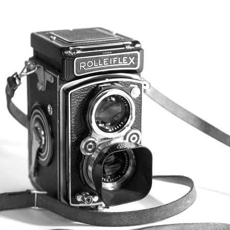 she is a real beauty ;) Rolleiflex Antique Blackandwhite Camera - Photographic Equipment Equipment Lens - Eye No People Old-fashioned Photograph Photographic Equipment Photography Themes Retro Styled Shutter Technology Tlr Twin Lens Reflex White Background Lieblingsteil