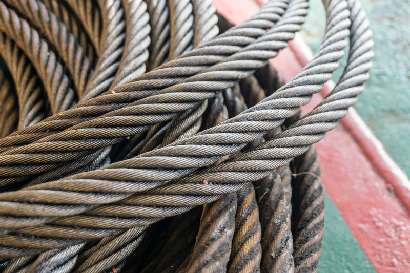 wire rope sling Wire Rope Sling Rigging Thread Heavy Lifting Tackle Coil Coiled Deck Metal Steel Braided Offshore Offshore Life Nautical Maritime Strong