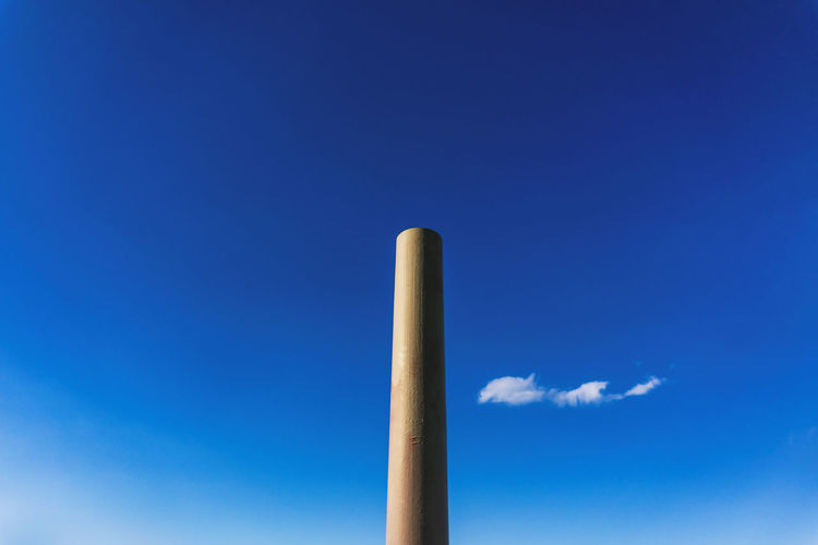 Red Vertical Tube Against Sky with Cloud Berlin Germany 🇩🇪 Deutschland Color Image Horizontal Outdoors No People Blue Sky Cloud - Sky Nature Copy Space Low Angle View Environment Day Smoke Stack Tall - High Metal Wind Industry Tube Pipe Pipe - Tube Vertical Blue Sky