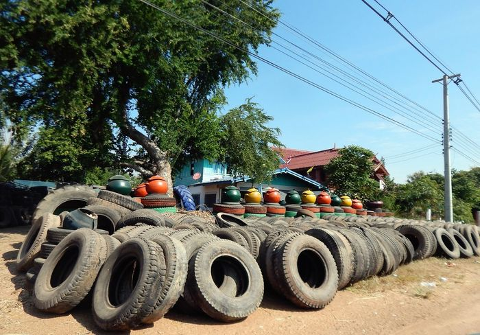The Street Photographer - 2016 EyeEm Awards Tyres Rubber Recycle Recycled Materials Magic Transformation Garbage Rubbish Bin Textures And Surfaces Innovating Colourful Culture EyeEm Thailand