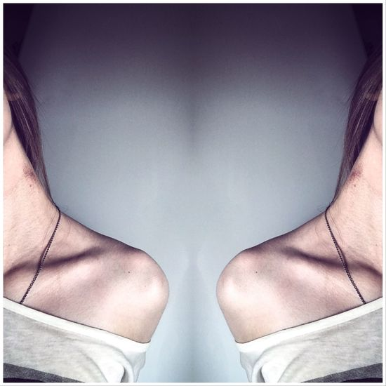 Made With IPhone 7 Girl Cold Mark Bite Photo Neck Thin Collarbone Woman Human One Person Human Body Part Body Part Standing Clothing Adult Indoors  Real People Lifestyles Day Close-up