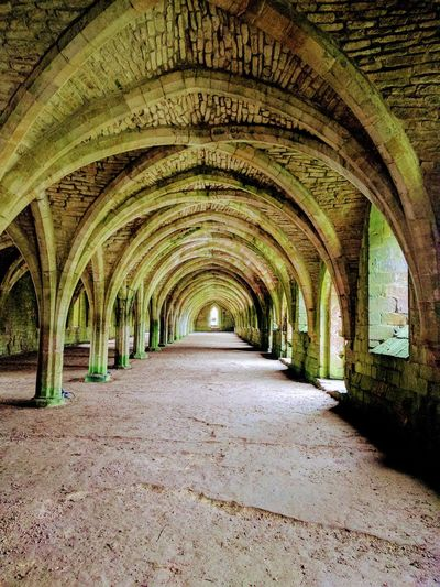 The Great Hall of a very old Abbey in the UK Abbey Abbey Ruins Architecture Arch Geometry In Nature