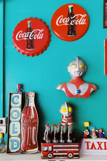 Summertime Colors Cocacola No People Decoration Indoors  Souvenir Multi Colored
