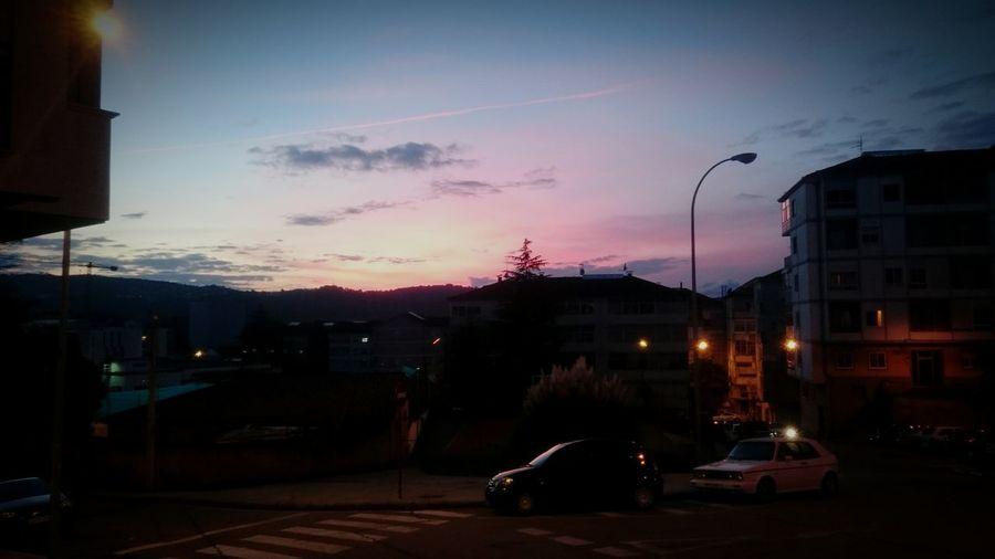 Street Light Sunset Sky