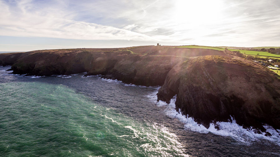 Beauty In Nature Cliff Cliffs Cliffside Cloud - Sky Cork Day Drone  Drone Photography Dronephotography Drones Droneshot Ireland Motion Nature No People Outdoors Power In Nature Scenics Sea Sky Sunlight Tranquility Water Wave