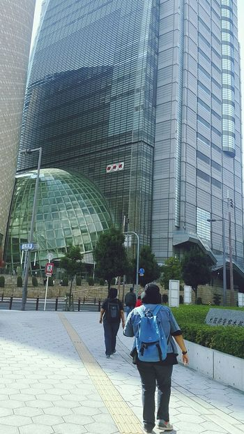 NHK Architecture Exterior Design OSAKA Osaka Street Architecture Built Structure Walking Real People Building Exterior Rear View Day City