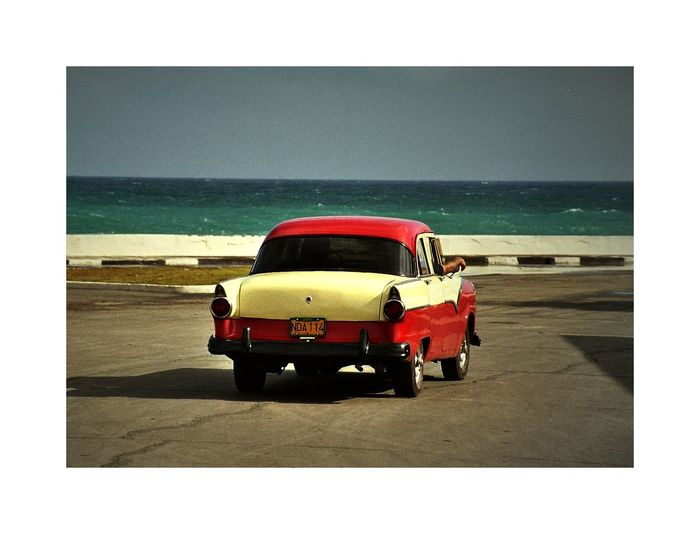 Car Cuba, Land Vehicle Oldtimer Sea Street Street Photography Transportation