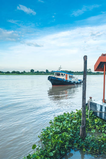 Blue Wave River View Thailand Blue Sky Boat Boats And Water River Thailandtravel