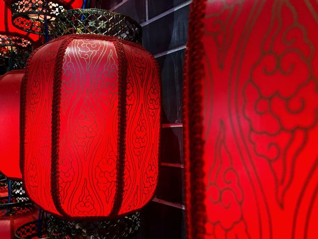Red No People Decoration Hanging Textile Indoors  Pattern