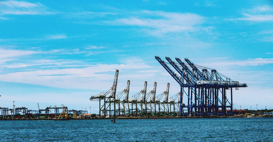 Water Outdoors Sea Sky Day No People Commercial Dock Technology Harbor Nature Nautical Vessel Seaport Seaport Containers Seaport District Horizon Over Water Blue The Week On EyeEm