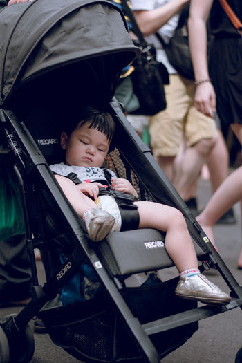 Real People Child Childhood Baby Carriage People Outdoors Cute Focus On Foreground