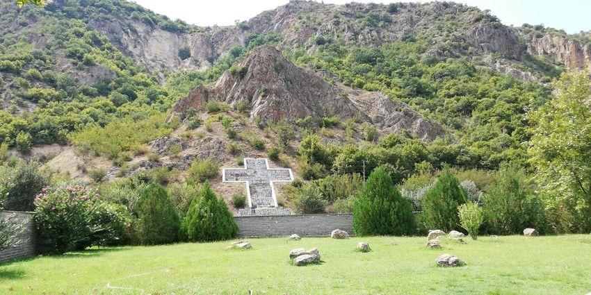 Tree Mountain Ancient Civilization Grass Sky Green Color Landscape Built Structure