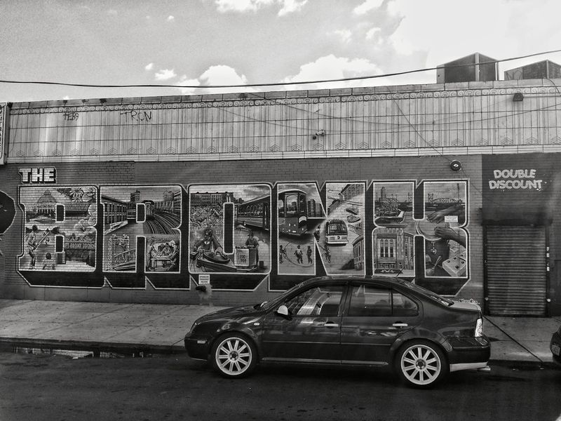 Transportation Land Vehicle Car Outdoors Day Built Structure City Architecture No People Sky New York Bronx, New York Bronx City Art New York City Be. Ready. Black And White Friday EyeEmNewHere