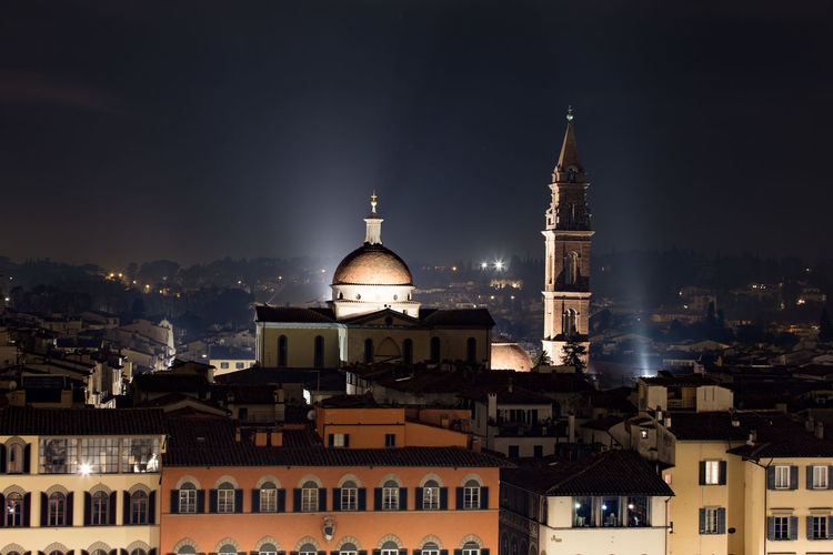 Architecture Astronomy Beam Of Light Business Finance And Industry City Cityscape Dome Florence Florence Italy Illuminated Light Light And Shadow Night No People Outdoors Place Of Worship Religion Roof Scenics Sky Tower Travel Travel Destinations Urban Skyline