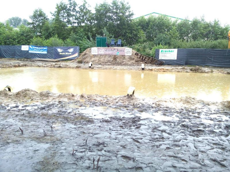 Mud rugby ground in Gronau/Epe (Germany/NRW) Mud Mud Rugby Ground Water No People Outdoors Muddy Water 2015  Gronau/Epe Epe Wutzball Arena Germany