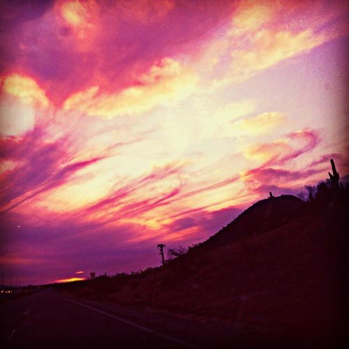 Instagramaz Glendaleaz Awesomesunsets @arizonaskies @sunsetsgram Desertlivin Cacti Mountainside Frontageroads Scenic Citylifeinaz Amazing Landscape Beautiful Colorful Clouds Clpudporn Instamood Pink Orange Yellow Purple Lovely Skies Thegreatbeyond Arizonapollution