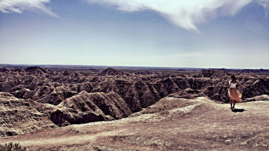 Capture The Moment First Eyeem Photo Badlands Desert Sky Wind Nature Alone Fleeting Beauty Endless On The Edge Edge Of The World Enjoying The View South Dakota Badlands The Great Outdoors Reflection Eyem Best Shots EyeEmbestshots Lost In The Landscape