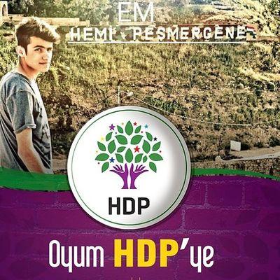 پێشتگیری بو پارتا باکورێ کوردستانێ HDP. Oyum HDP'ye ✌✌✌. HDP HDP