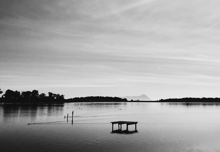 Latina Shadow Lakeview Blackandwhite Water Sky Cloud - Sky Scenics - Nature Beauty In Nature Tranquility Tranquil Scene Reflection Waterfront Lake No People Day Non-urban Scene Outdoors Silhouette