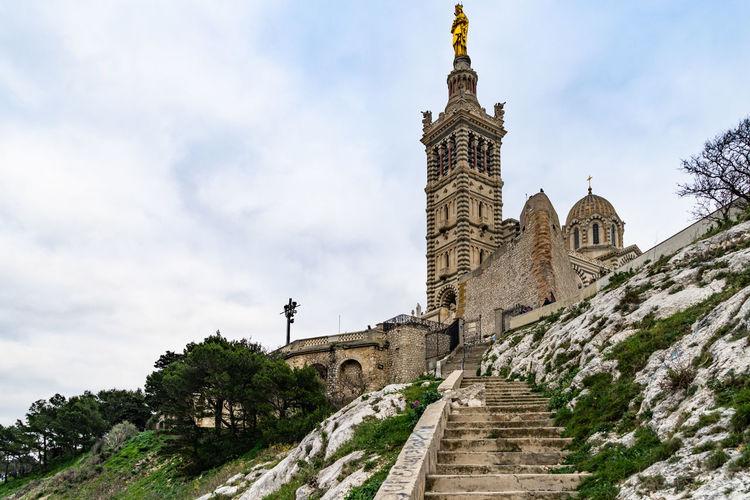 The scenic basilica of notre dame de la garde is the symbol of marseille, france