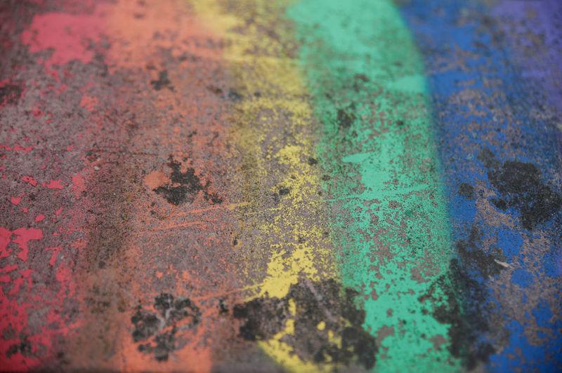 Full frame shot of multi colored metal