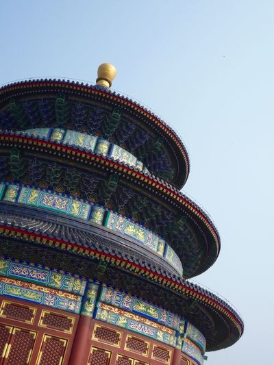 Temple of heaven against clear sky