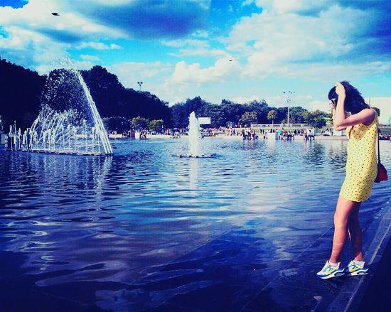 Moscow Park Nature Writer Blue Blue Sky Sky Parkgorkogo Summer ☀