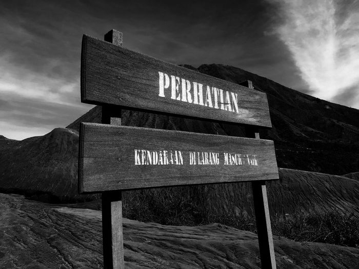 Genung Bromo - somewhere between moon and reality Non-urban Scene No People Majestic Traveling Travel Photography Travel Destinations Outdoors Nature Mountain Range Beauty In Nature Mountain Silhouette Dirty Blackandwhite Sky Black And White Blackandwhite Photography