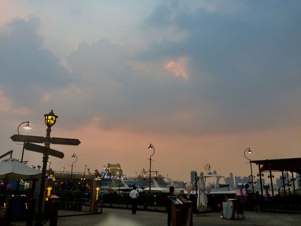 Sky Street Light Sunset Street Cloud - Sky Lighting Equipment Nature