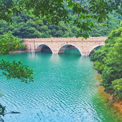 Arch bridge at tai tam reservoirs