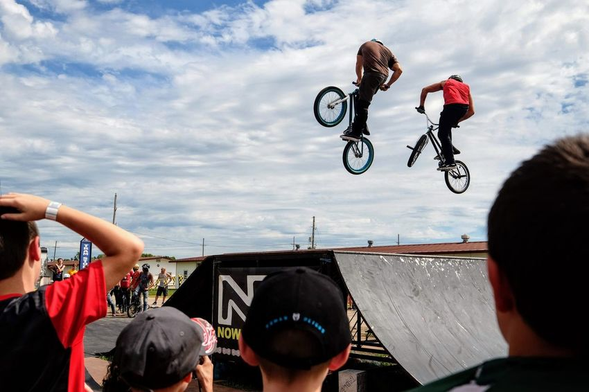 Nowear BMX Team Nebraska State Fair September 1, 2018 Grand Island, Nebraska Camera Work Check This Out EyeEm Best Shots FUJIFILM X-T1 Fujinon 10-24mm F4 Getty Images Grand Island, Nebraska Nebraska State Fair NowearBMX Photojournalism Action Action Shot  Adult Arms Raised Bicycle Bmx  Bmx Cycling Body Part Cloud - Sky Crowd Day Events Extreme Sports Eye For Photography Freestyle Group Of People Human Arm Human Body Part Human Limb Jumping Leisure Activity Lifestyles Men Mid-air Nature People Performance Real People S.ramos September 2018 Series Sky Spectator Sport Stunt Transportation