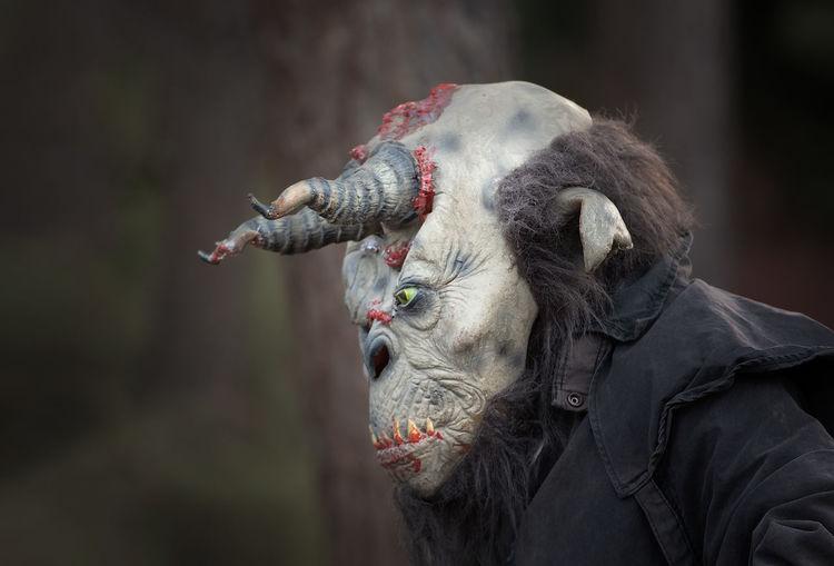 Close-up People Outdoors Custom Halloween Horns