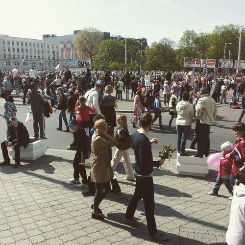 9 Мая ))Парад Победы)скольколюдей 😂👊✌