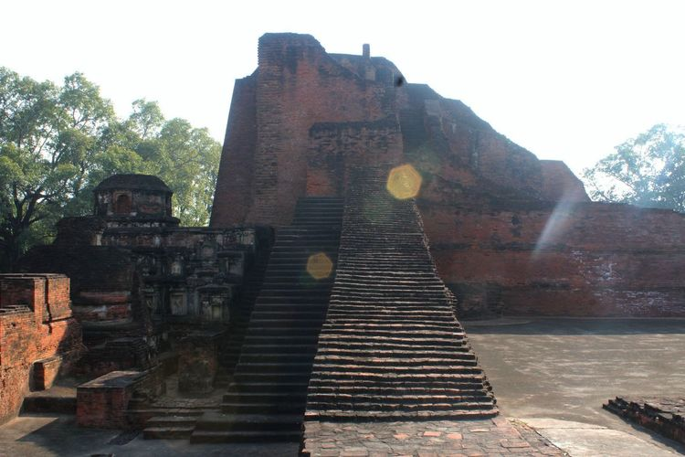 Nalanda University ruins Architecture History Nalanda University Travel Destinations Ancient Sky Built Structure Day Staircase Old Nature Religion Building Exterior Tourism Old Ruin Run-down Place Of Worship Ancient Civilization Outdoors The Past Damaged Deterioration Archaeology Ruined