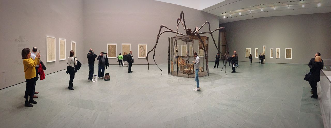 Group of people in museum
