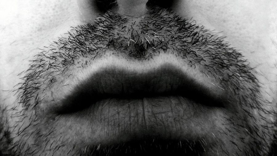 RePicture Growth Beard Bearded Notshaved Black And White Blackandwhite Black & White Lips RePicture Masculinity Masculinity Masculine
