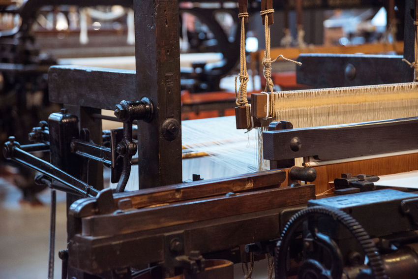 At the Toyota Museum in Nagoya, Japan Antique Antique Equipment Fabric Factory Focus On Foreground Industry Loom Machinery Manufacturing Equipment Metallic Old Part Of Selective Focus Textile Textile Industry Textile Machinery Weaving Loom Weaving Machine Work Tool Ultimate Japan