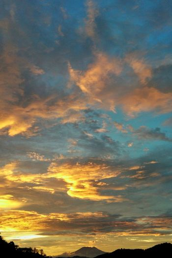 Sunset Moment Sunset Orange Color Multi Colored Backgrounds Cloud - Sky Outdoors Nature Sky Blue No People Scenics Yellow Full Frame Beauty In Nature Beauty Day Space First Eyeem Photo