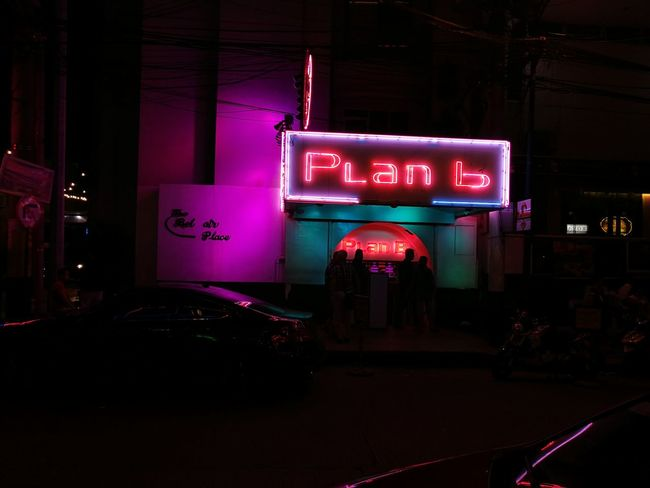 Always We Have Plan B Night Neon Text No People Outdoors Communication Architecture City Illuminated