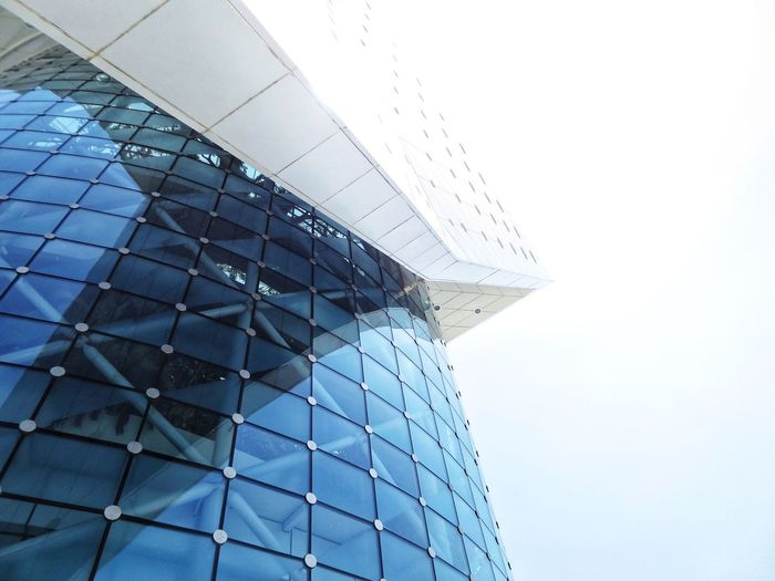 Architecture Built Structure Low Angle View Modern Building Exterior No People Day Clear Sky Outdoors Sky Futuristic City Dubai